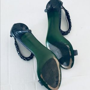 Donald J. Pliner Shoes - Donald J Pliner Lisa Chain and Leather Heels 6.5
